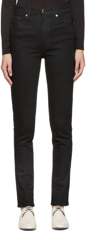 Image of Khaite Black Vanessa High-rise Jeans