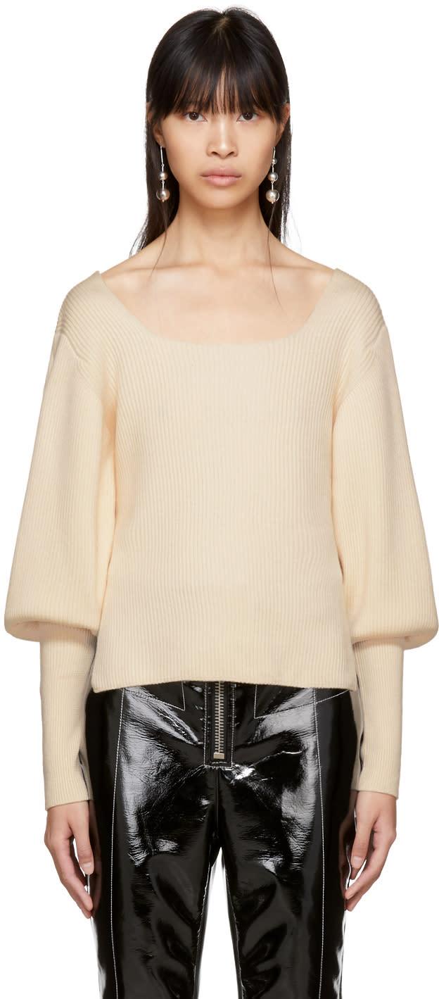 Image of Khaite Beige Merino Lynette Sweater