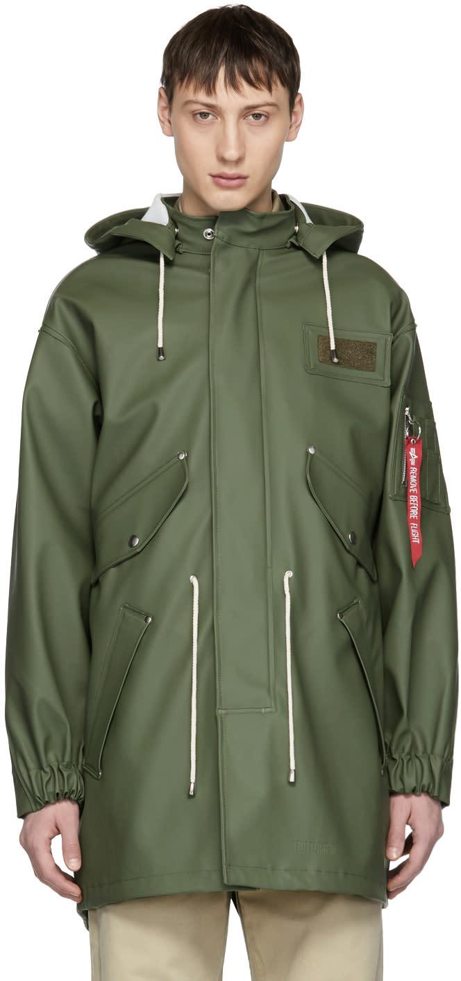 Image of Stutterheim Green Alpha Industries Edition M-65 Fishtail Coat