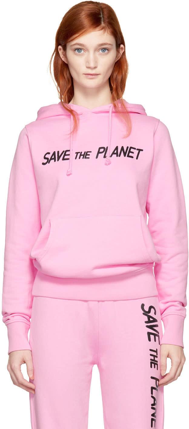 Ashley Williams Pull à Capuche Rose save The Planet Exclusif à Ssense