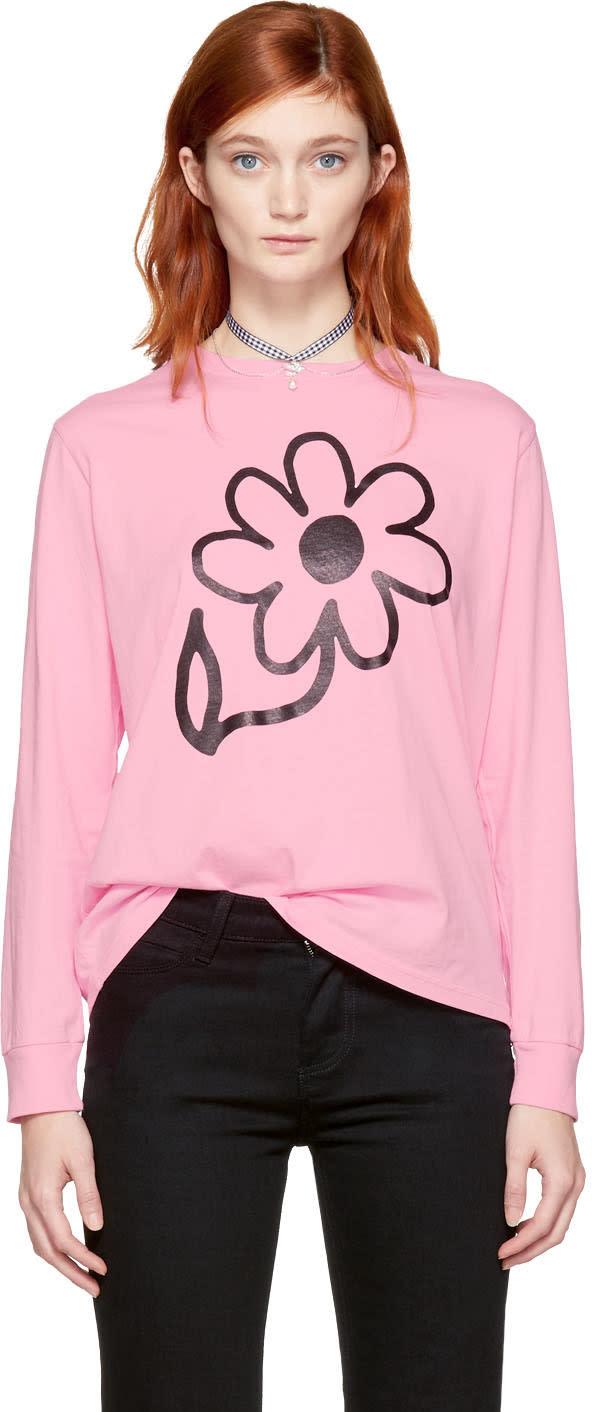 Ashley Williams T-shirt à Manches Longues Rose Flower Exclusif à Ssense