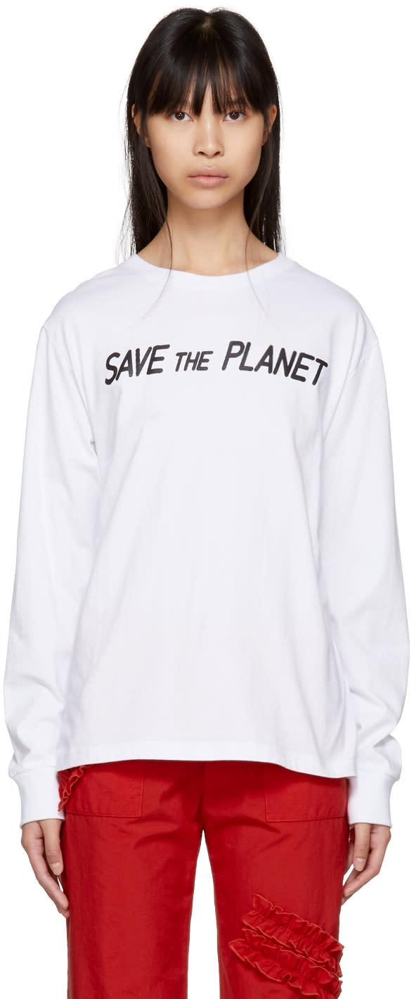 Ashley Williams T-shirt Blanc save The Planet Exclusif à Ssense