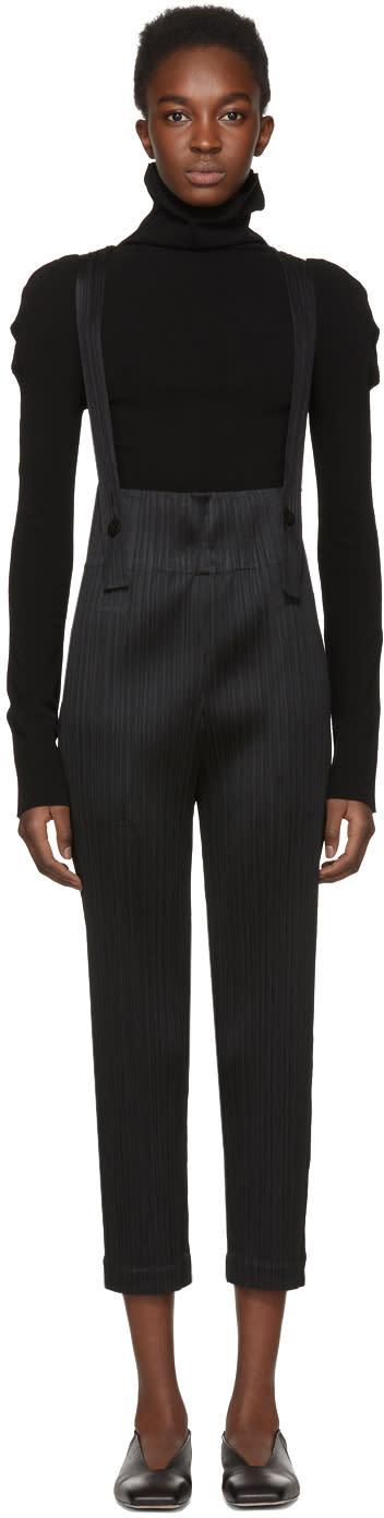Image of Pleats Please Issey Miyake Black Pleated Jumpsuit