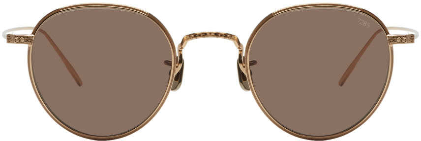 3df347b800 Eyevan 7285 Gold model 539 Sunglasses