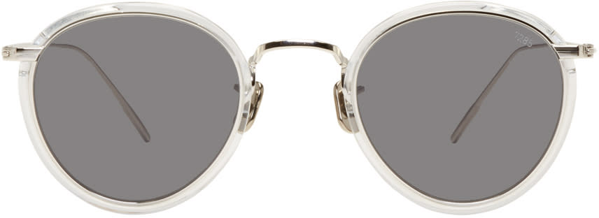 Image of Eyevan 7285 Silver and Black model 717 Sunglasses