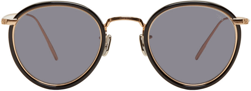 Image of Eyevan 7285 Gold and Black model 717 Sunglasses