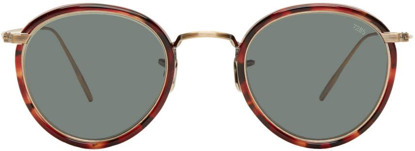 Image of Eyevan 7285 Tortoiseshell and Gold model 717 Sunglasses