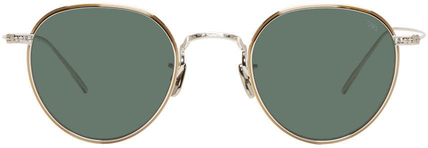 Image of Eyevan 7285 Silver and Green model 539 Sunglasses