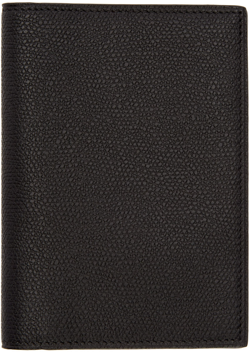 Image of Valextra Black 3cc Passport Holder