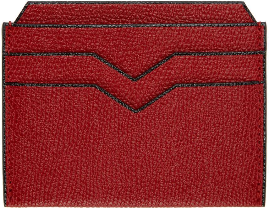 Valextra Porte-cartes Rouge 4cc