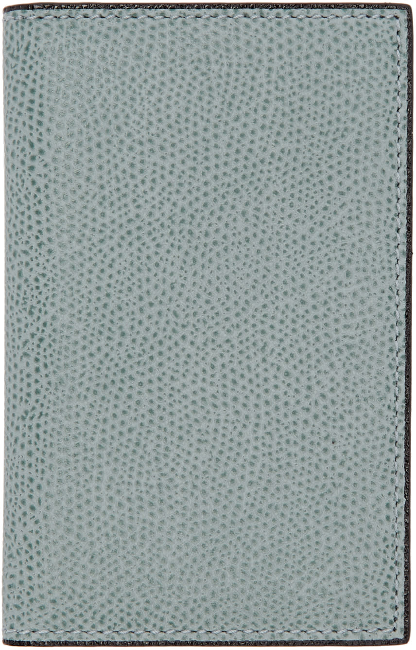 Image of Valextra Blue Business Card Holder