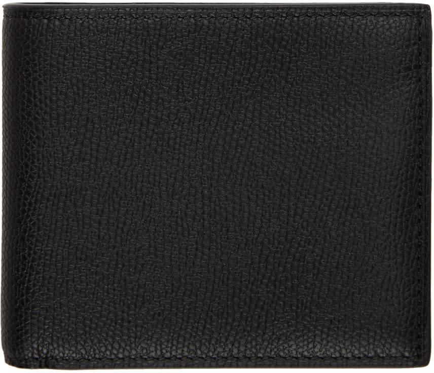 Image of Valextra Black 6cc Bifold Wallet