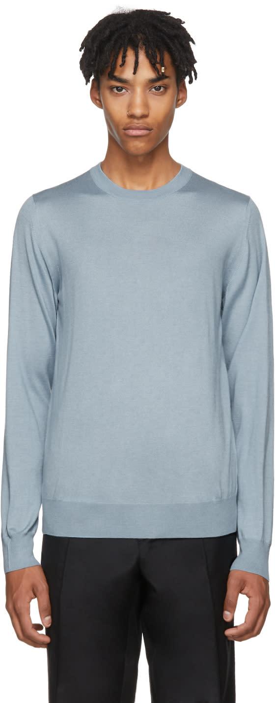Image of Brioni Blue Crewneck Sweater