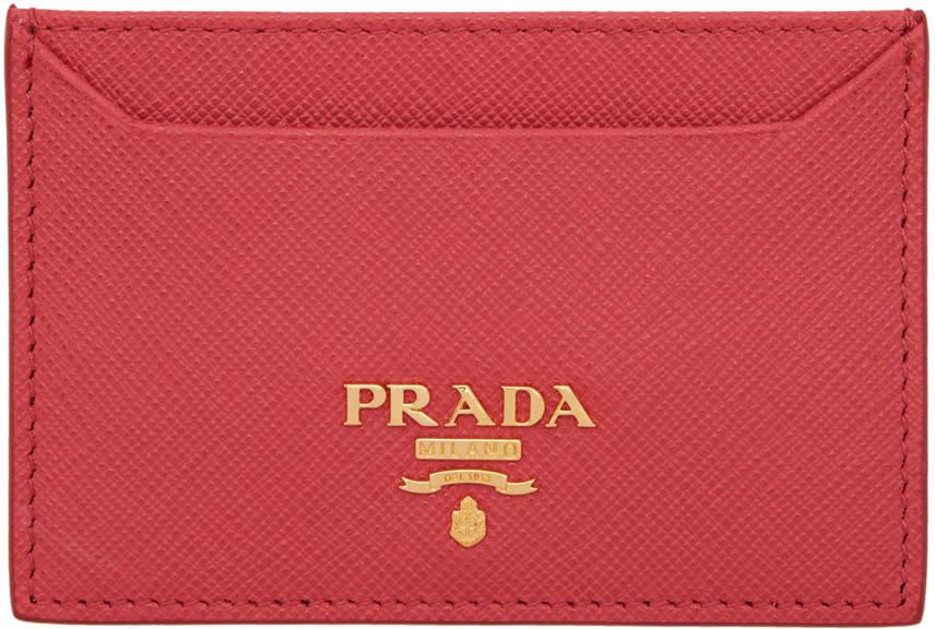 8c9fa95c1060 Prada Red Card Holder