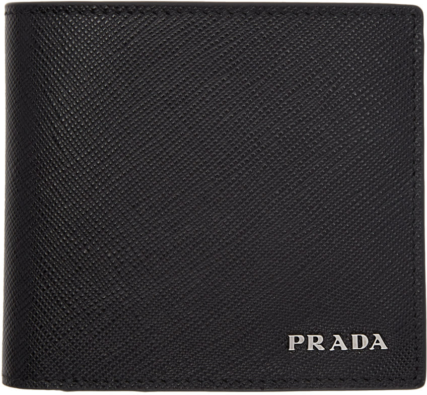 Image of Prada Black and Red Bifold Wallet