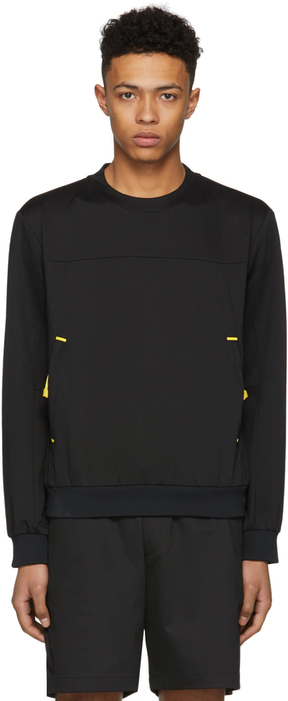 b69295415f Prada Black and Yellow Tech Crewneck Pullover