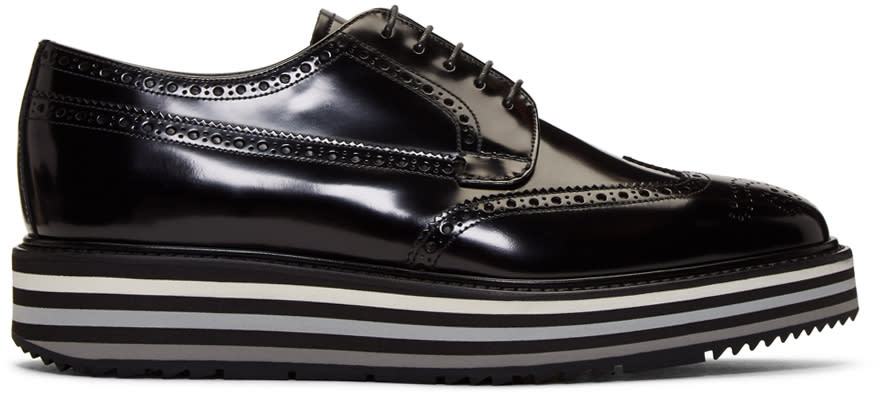 24512067 Prada Black Creeper Brogues