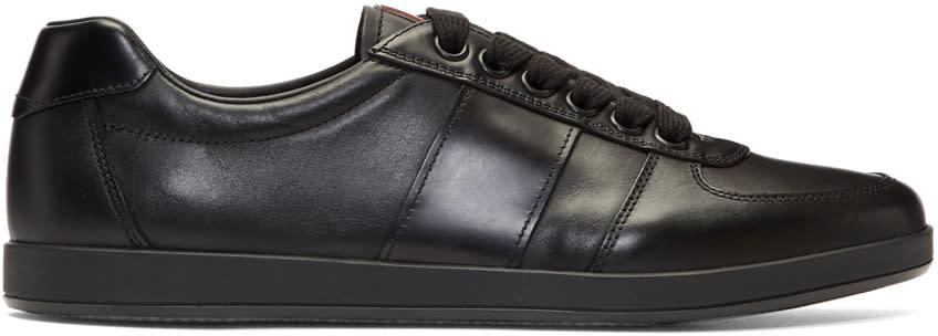 Prada Black Leather Slim Sneakers
