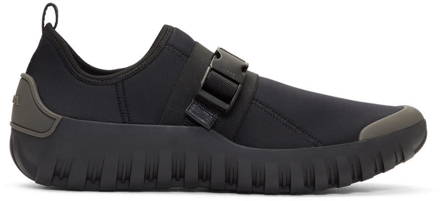 Prada Black Neoprene Frog Sneakers