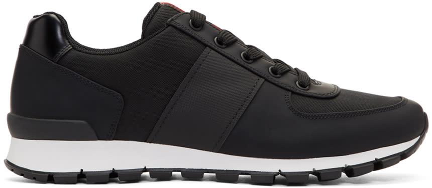 Prada Black and White Match Rays Sneakers