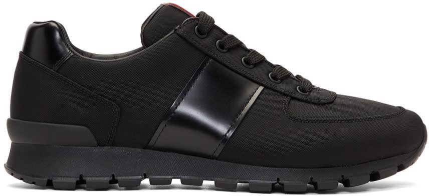 Prada Black Match Rays Sneakers