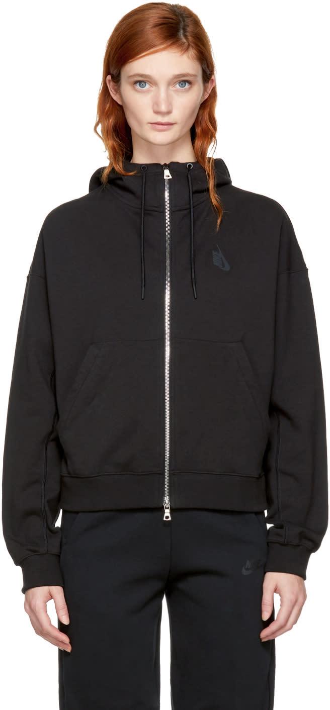 Image of Nikelab Black Essentials Full Zip Hoodie