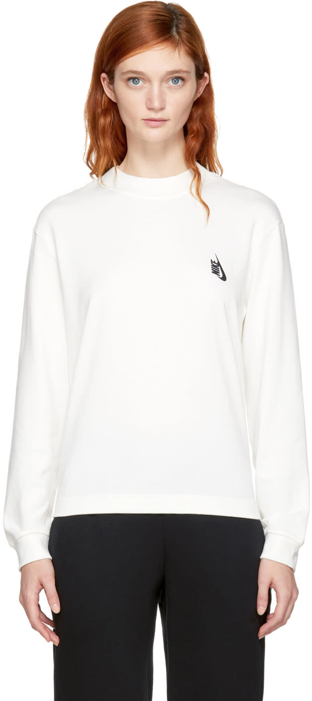 Image of Nikelab Ivory Essentials Mock Neck Sweatshirt