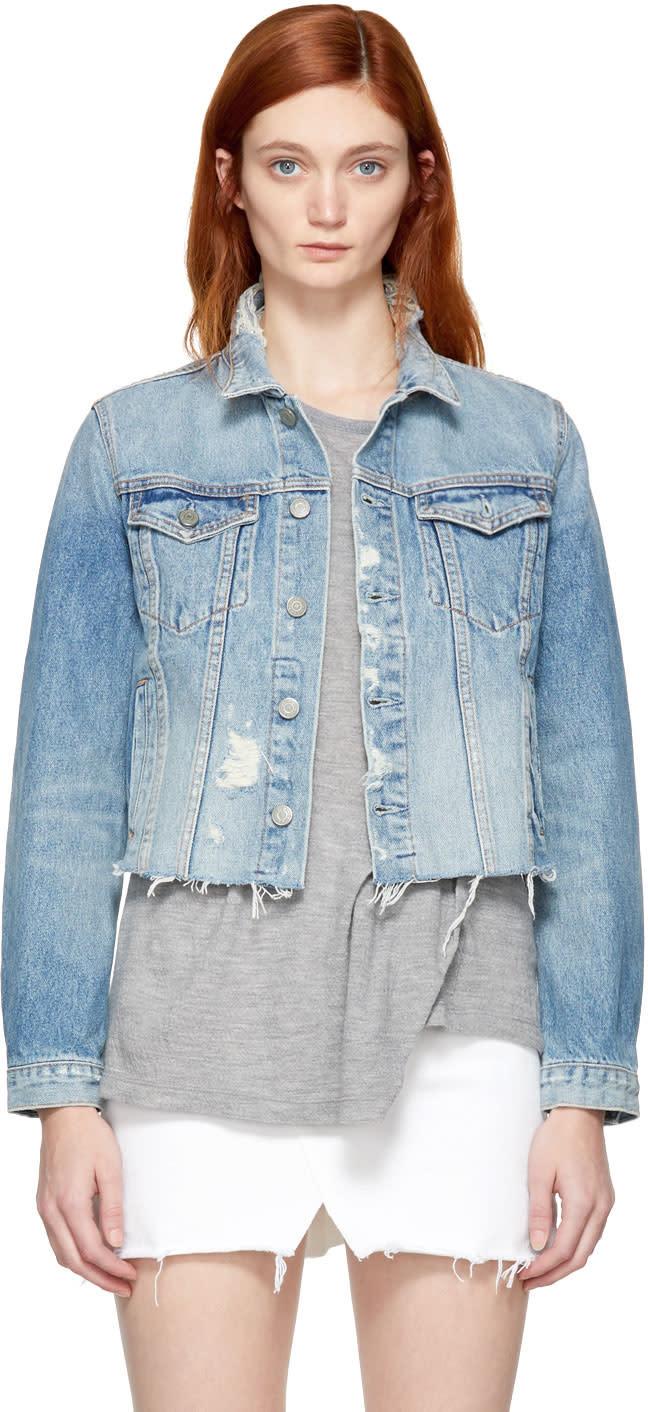 Image of Grlfrnd Blue Denim Cara Jacket