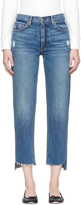 Image of Grlfrnd Blue Helena Crop Jeans