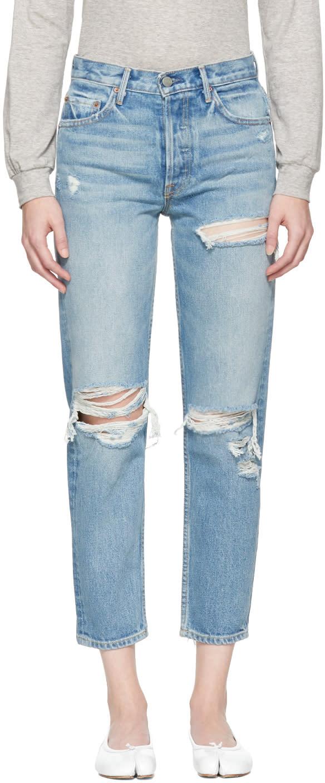 Image of Grlfrnd Blue Helena Long Jeans