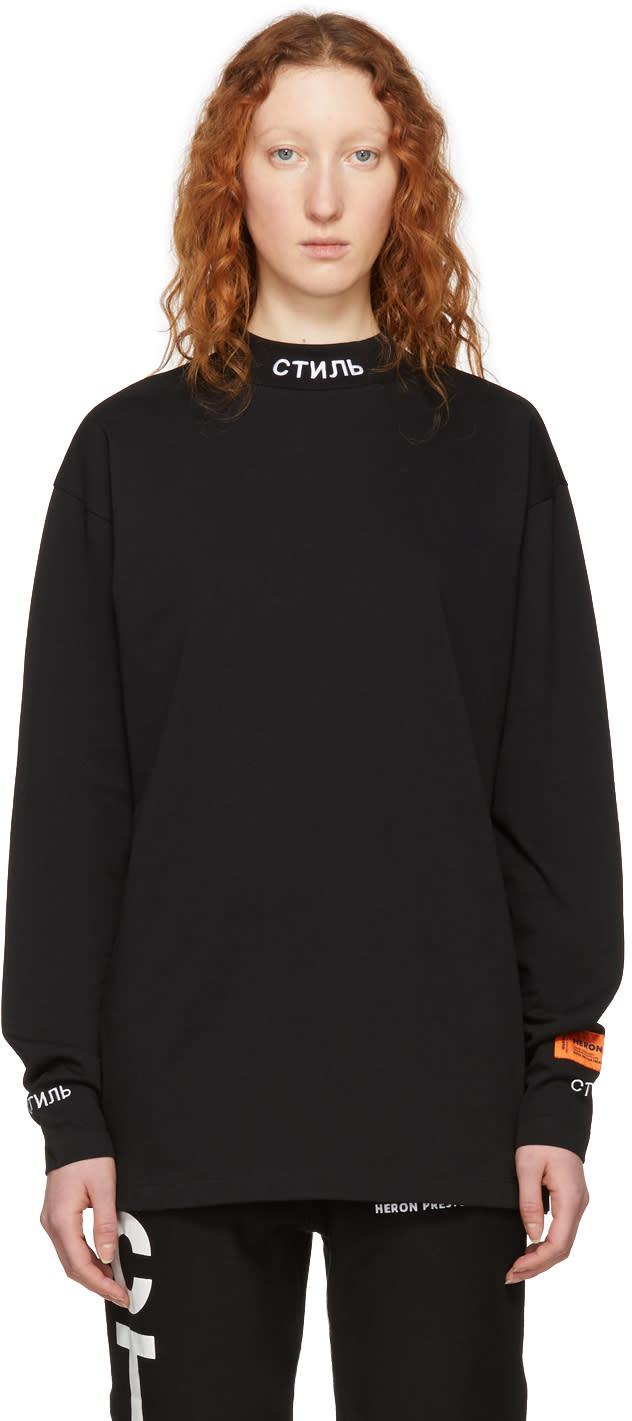 29feb096928a8 Heron Preston Black Long Sleeve style T shirt
