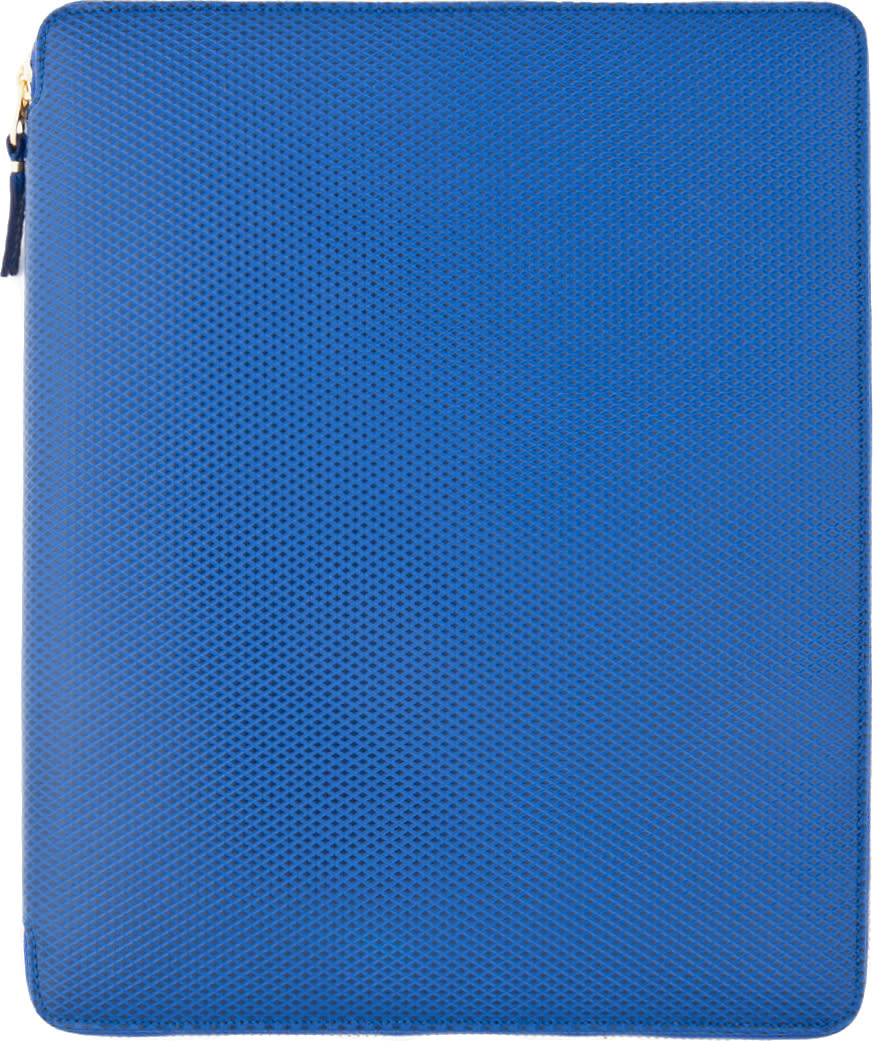 Image of Comme Des Garçons Wallets Blue Leather Ipad Case