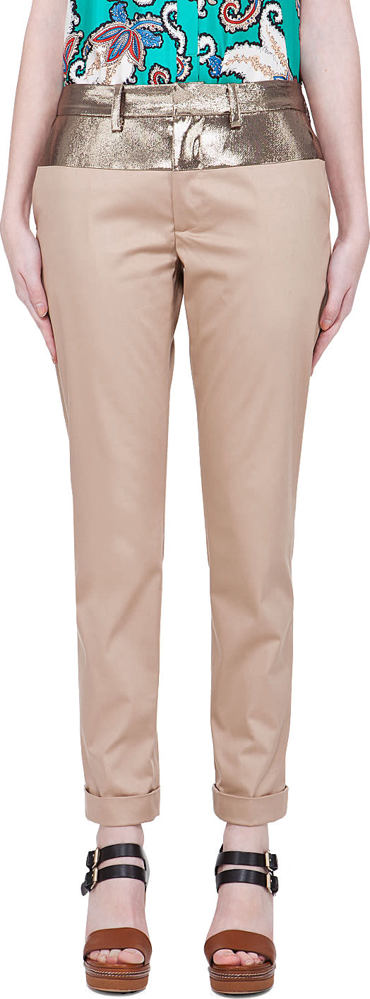 Thakoon Beige Cropped Pants