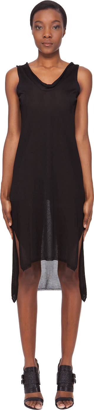 Image of Karolina Zmarlak Black Knit Dress