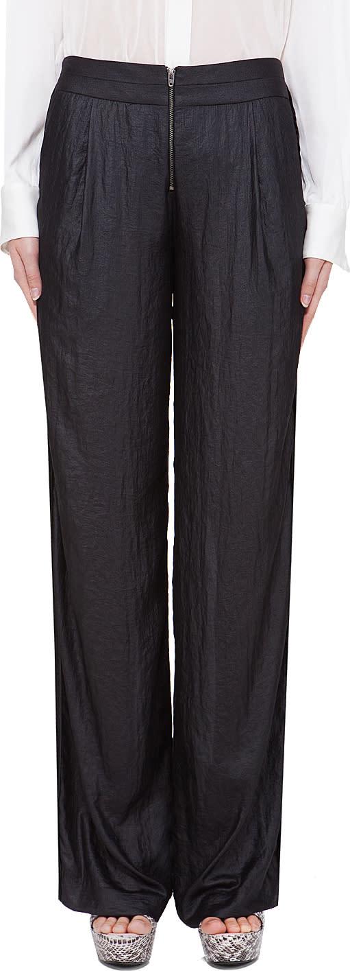 Under.ligne Black Wide Leg Pants