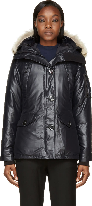 Canada Goose Black Down Fur-trimmed Montebello Jacket
