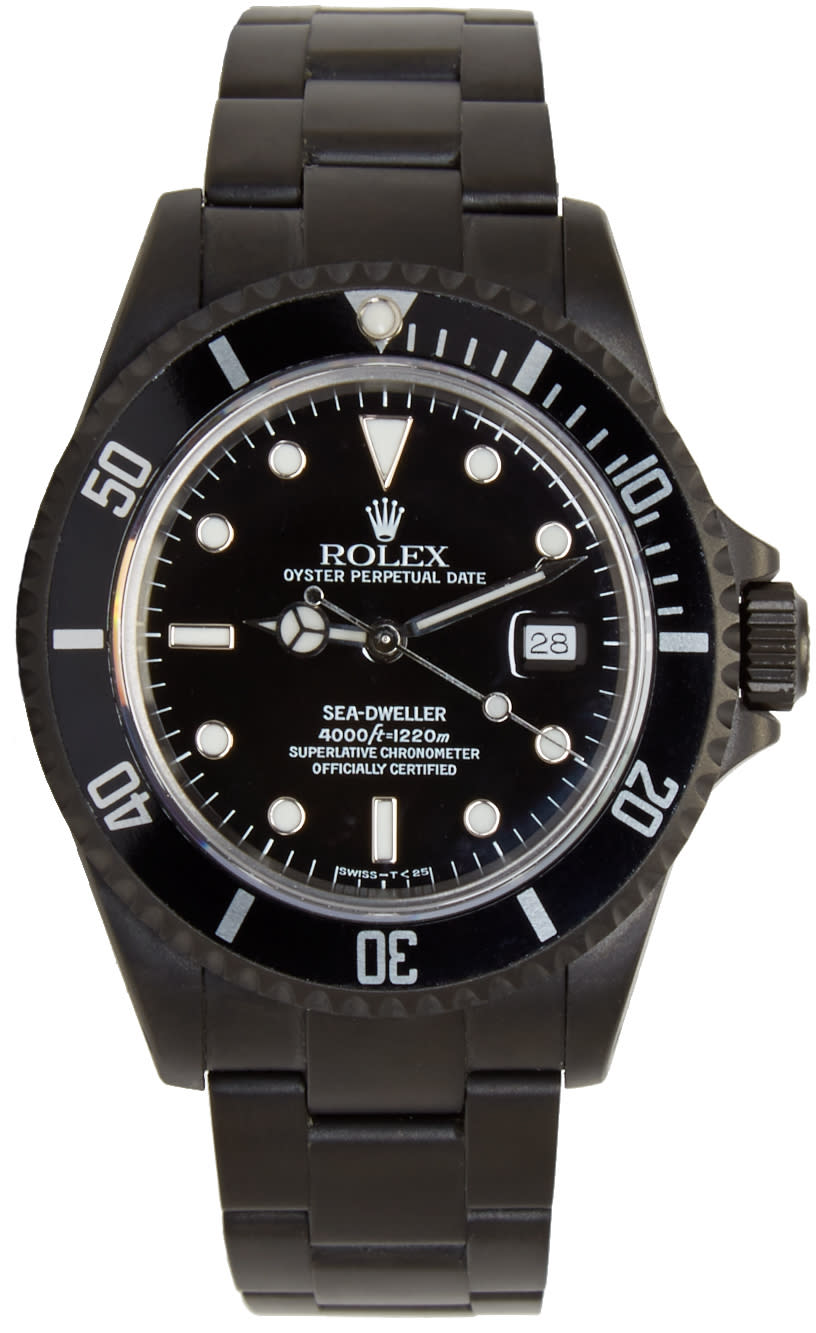 Image of Black Limited Edition Matte Black Limited Edition Rolex Sea Dweller Watch