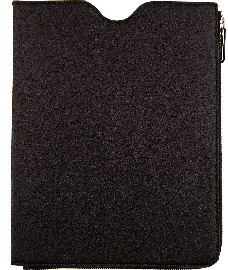 Maison Margiela Ssense Exclusive Black Glitter Ipad Case