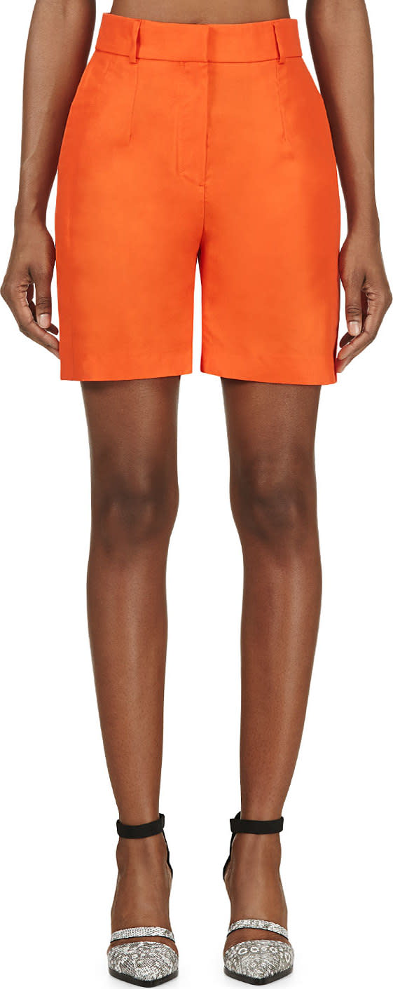 Damir Doma Orange Wide-leg Prao Shorts