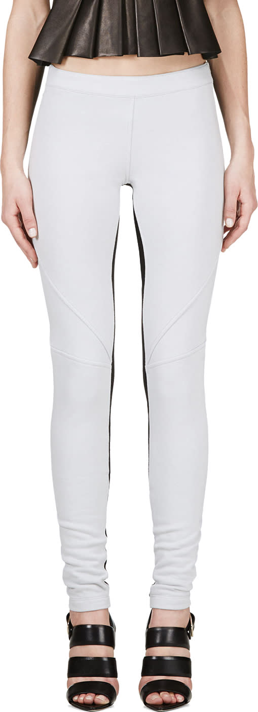 Gareth Pugh Grey Panelled Leggings