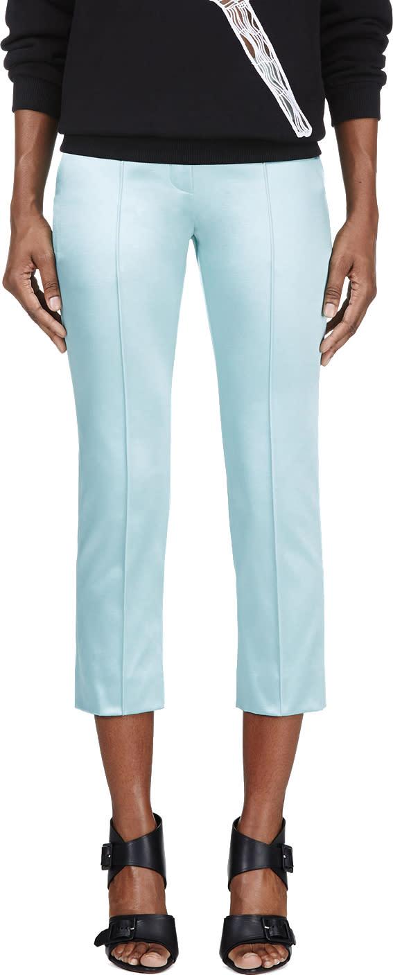 Roksanda Mint Green Pleated Cropped Trouser