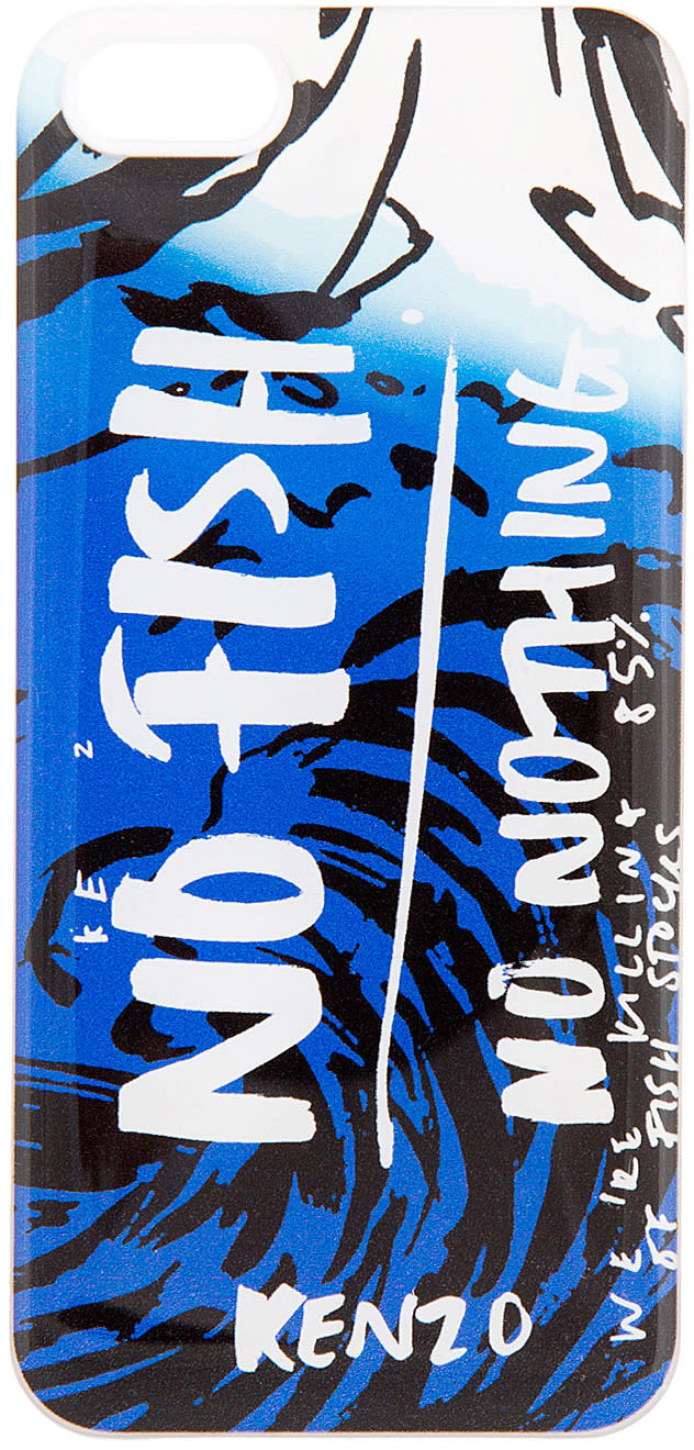 Kenzo Blue no Fish No Nothing Iphone 5 Case