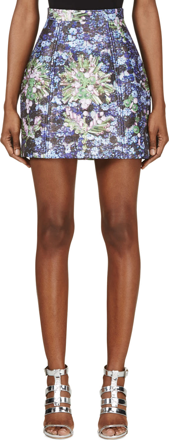Mary Katrantzou Blue Midnight Chrysa Skirt