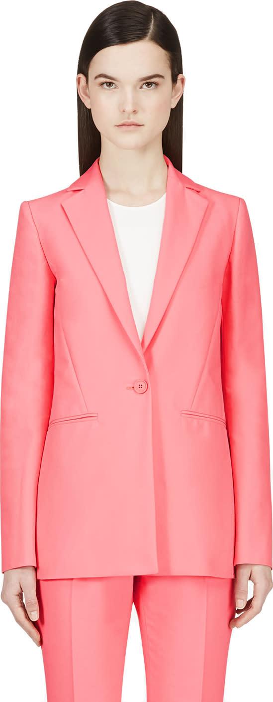 Cedric Charlier Pink Long Blazer