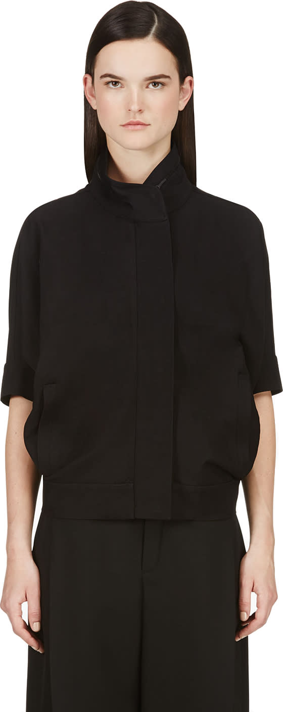 Image of Calvin Klein Collection Black Dolman Sleeve Jacket