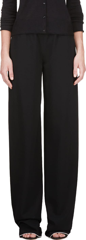 Calvin Klein Collection Black Telma Fluid Panama Lounge Pants