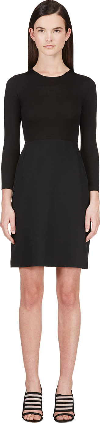 Image of Calvin Klein Collection Black Combo Tay Bis Dress