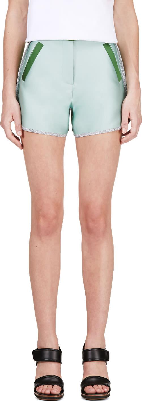 Ostwald Helgason Mint and Forest Green-grey Shorts