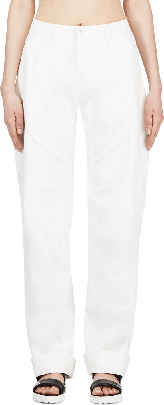 Image of Anne Sofie Madsen White Coated Cliff Jumper Lounge Pants