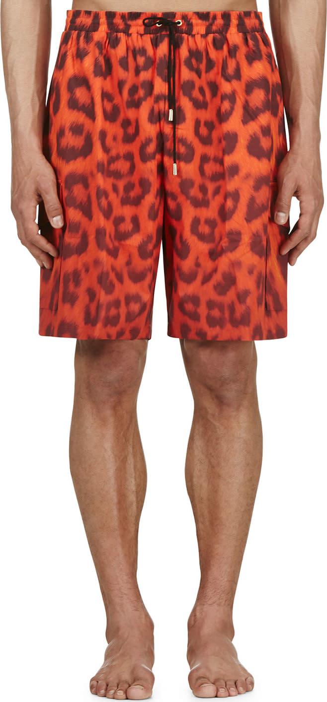 Katie Eary Vermilion Leopard Swim Shorts